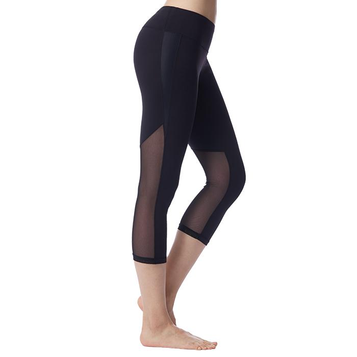 【MACACA】風之吻髖骨固定plus 七分褲-AUE6401(黑)(瑜伽/飛輪/健身/中強度運動)