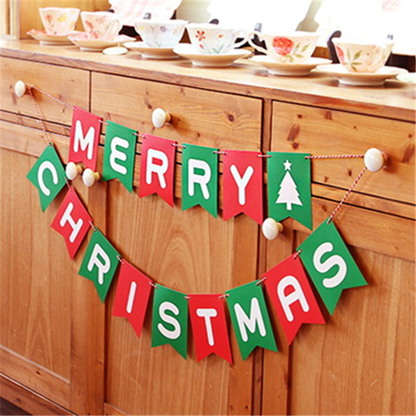 MERRY CHRISTMAS 派對彩旗【L004】 慶生裝飾佈置聖誕節 聖誕三角旗掛旗字母拉旗