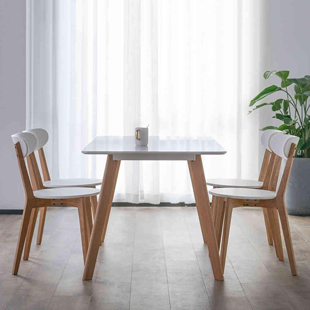 實木設計餐桌椅組(一桌四椅)餐桌/餐椅【obis】