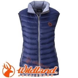 【Wildland 荒野 女款 700FP輕量羽絨背心 藍紫】 0A32171/連帽外套/羽絨外套/保暖外套★滿額送