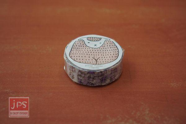 日本倉敷意匠和紙膠帶-飛舞蝴蝶紫15mm