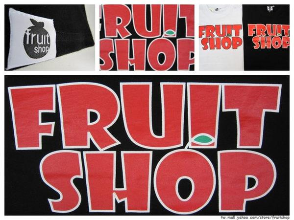 經典基本款圓領上衣‧黑色‧棉T-【Fruit Shop】