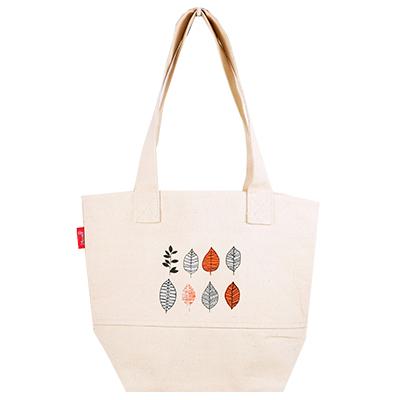 帆布袋 托特包 雅緻秋葉 帆布包 手提包 手提袋 環保購物袋 文青帆布袋【mocodo 魔法豆】