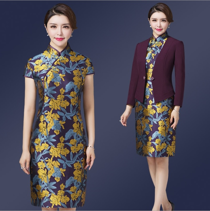 中大尺碼洋裝媽媽禮服洋裝外套婚宴禮服兩件套裝M-4XL rs138138卡樂store
