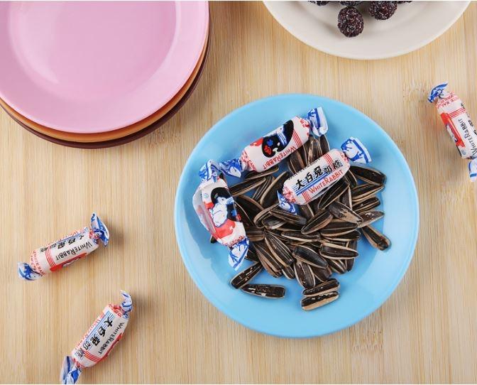 炫彩食品級塑料小碟子零食平底盤子小吃碟 9元