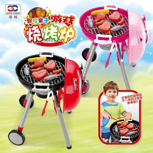 幼之圓*超大仿真智能觸控BBQ燒烤玩具組~聲光音效~家家酒玩具