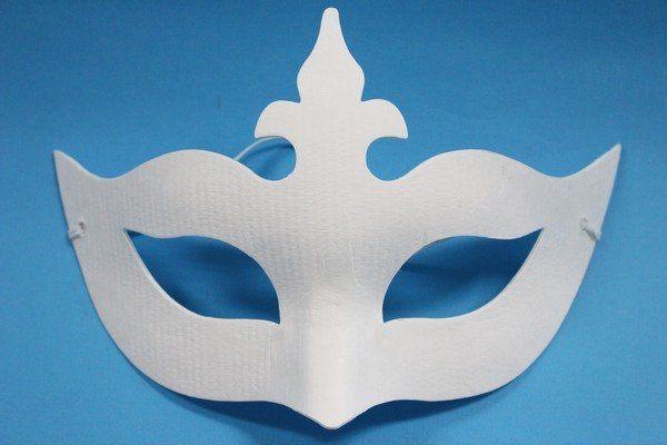 十字半罩面具彩繪面具空白面具紙漿面具DIY面具附鬆緊帶一袋50個入定40
