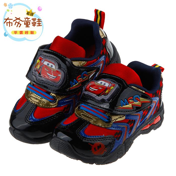 《布布童鞋》Cars閃電麥坤黑色豪華版電燈運動鞋(17~22公分) [ M7H059D ] 黑色款