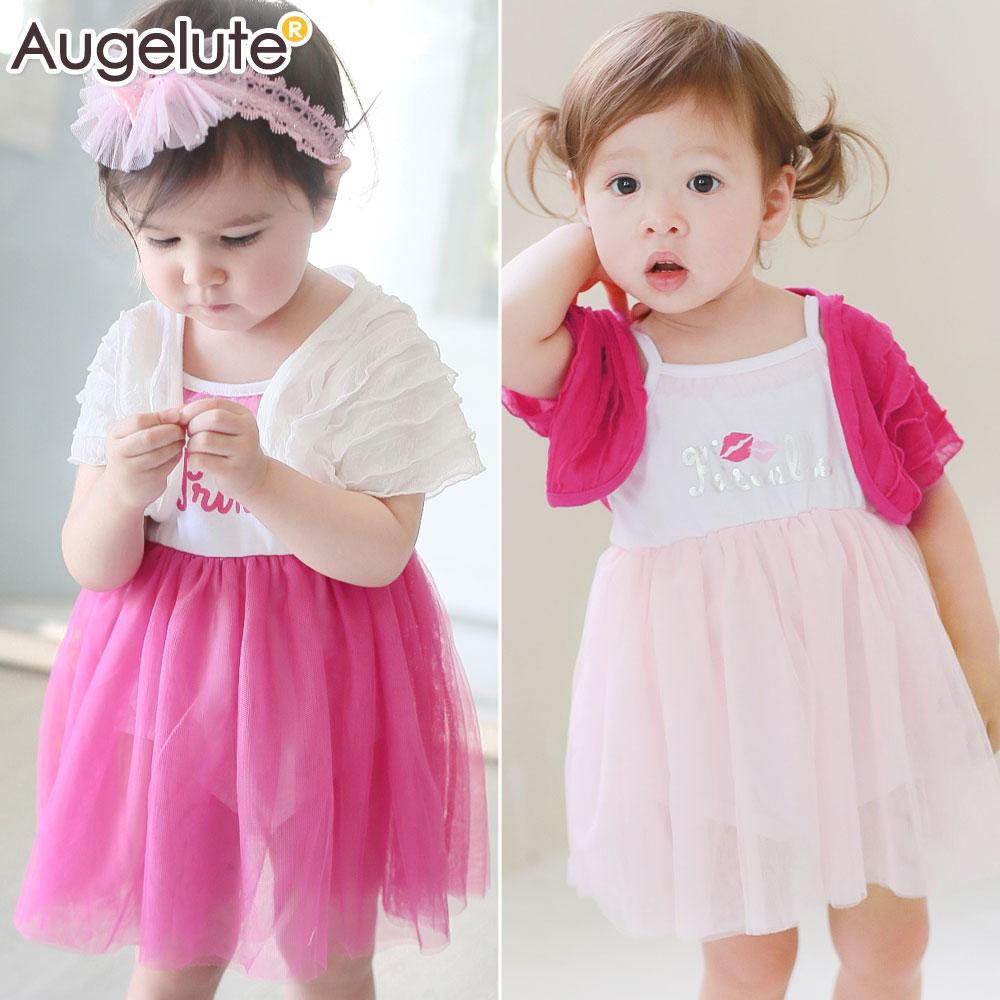 Augelute Baby禮服無袖蓬蓬紗包屁裙兩件套42132