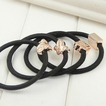 滴油彩色發圈日韓版流行新品頭飾皮筋髮繩頭繩 5元