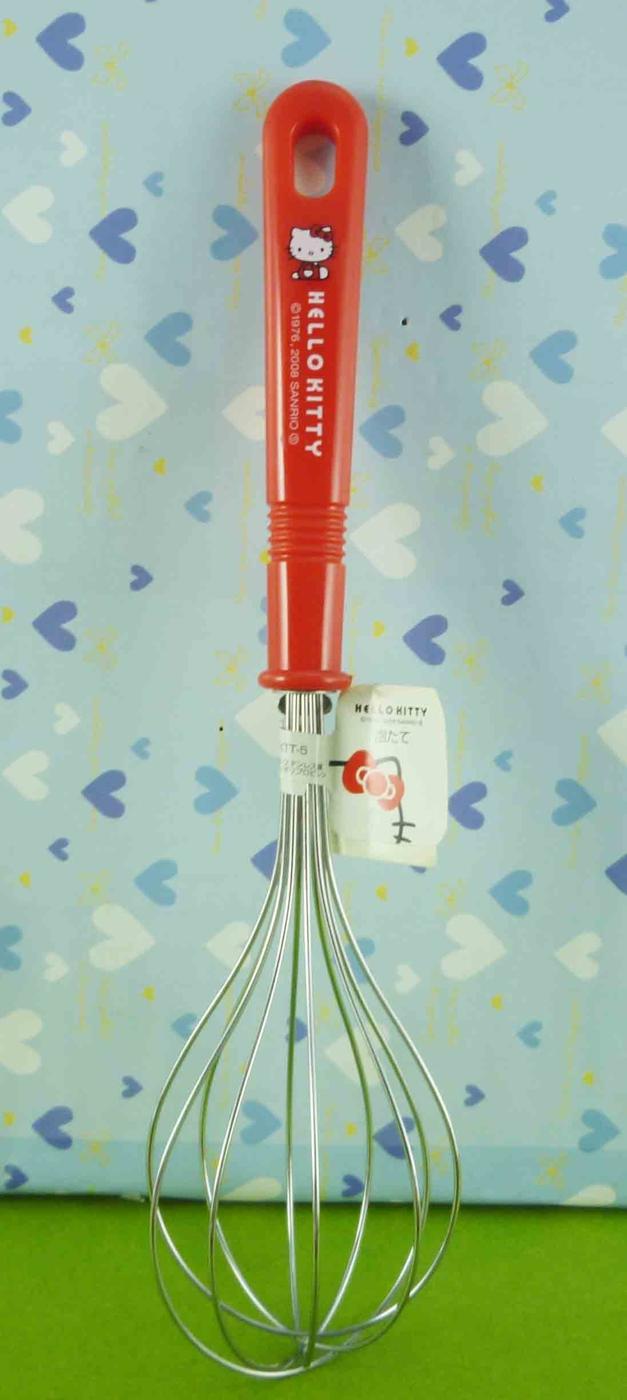 震撼精品百貨Hello Kitty凱蒂貓~打蛋器~側坐~紅共1款
