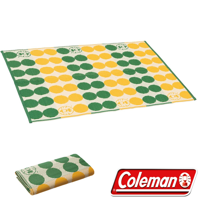 Coleman CM-26877-點點綠 露營野餐戶外地毯/130 日本製 公司貨