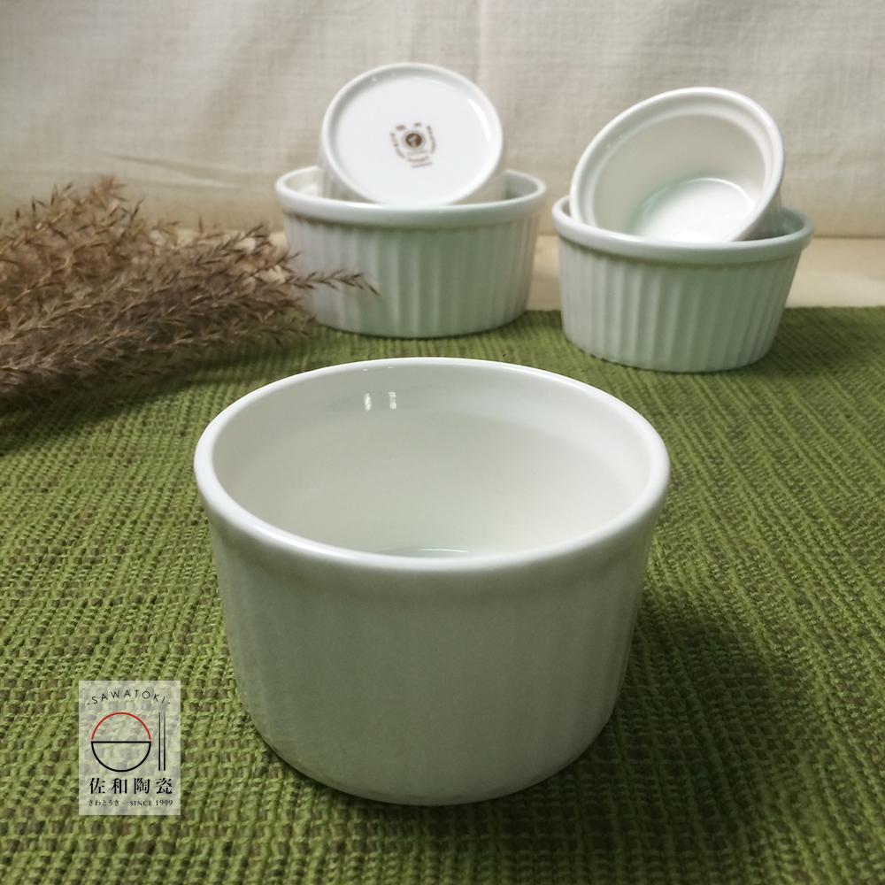 佐和陶瓷餐具大同餐具-象牙色強化瓷迷你布丁盅編號:P7834烤布丁奶酪果凍小甜點