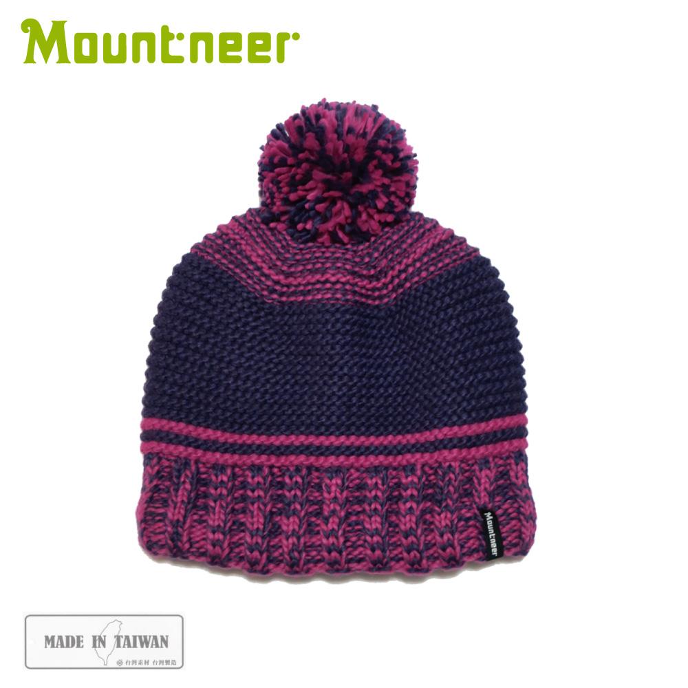 【Mountneer 山林 保暖針織毛線帽《暗紫》】12H63/休閒帽/毛帽/保暖帽