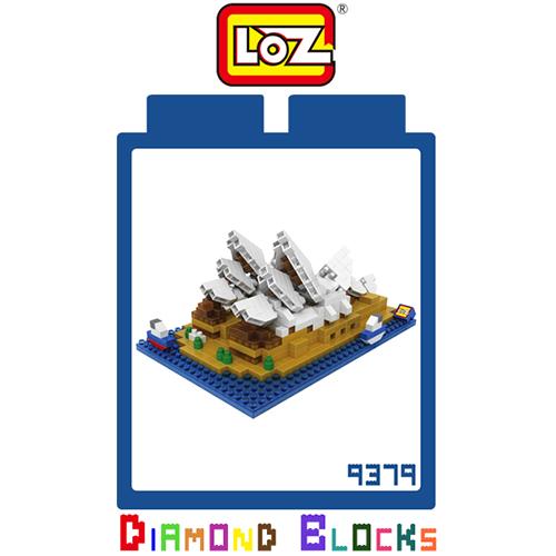 LOZ 迷你鑽石小積木 澳洲 雪梨歌劇院 世界建築 樂高式 組合玩具 益智玩具 原廠正版