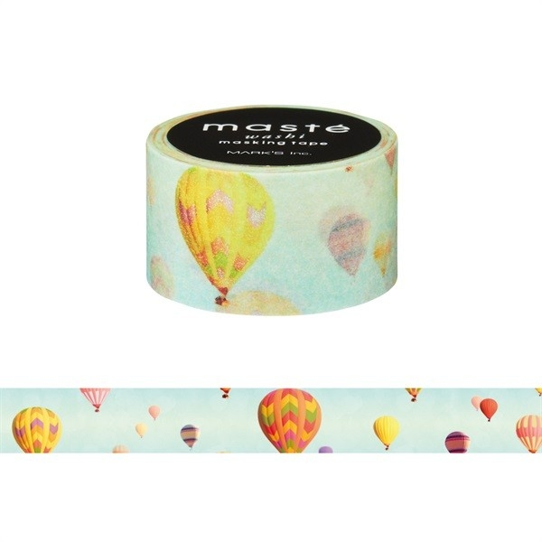紙膠帶SEIO日本官方授權Masté日本製和紙紙膠帶Multi Nature Balloon好天氣熱汽球