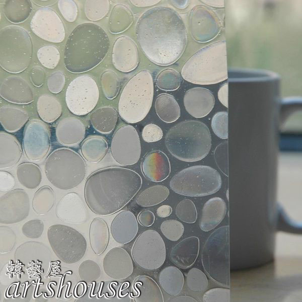 XM-3DWD001鵝卵石3D無膠靜電玻璃貼窗貼防曬壁貼可重複貼kitchen bathroom glass