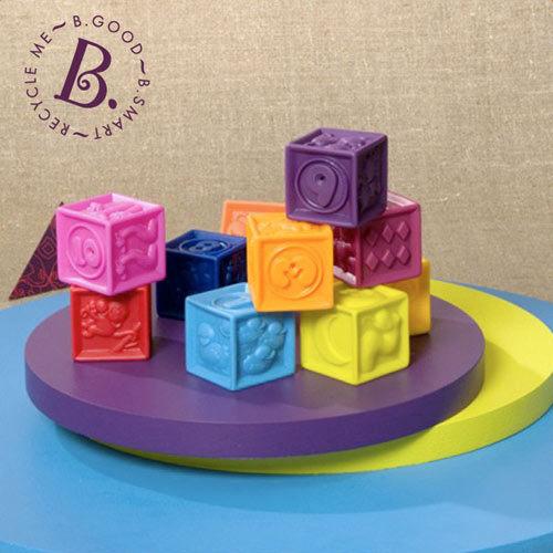 【奇買親子購物網】美國B.Toys 123捏捏樂