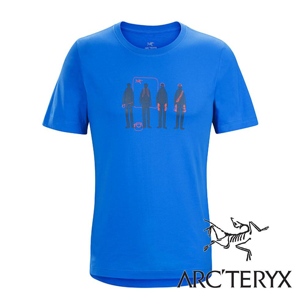 Arc'teryx加拿大始祖鳥男LOGO短袖T恤參宿藍L06867吸濕排汗透氣T-shirt短袖運動衫排汗衫