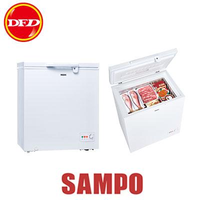 SAMPO 聲寶 冷凍櫃 SRF-151G 容量100L 雙開式玻璃滑門  把手設計帶鎖  ※運費另計(需加購)