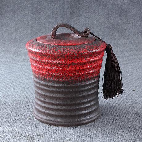 火初紅陶瓷茶葉罐