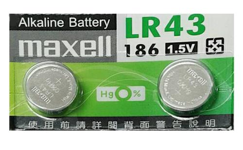[ 中將3C ]   LR43水銀電池(2顆) LR-43-AS