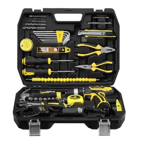 12v 16V 25V锂電鑽多功能家用工具套裝電動螺絲刀工具箱組合套裝tw瘋狂購物