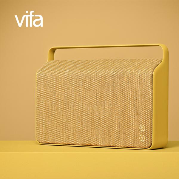 丹麥Vifa Copenhagen Wi-Fi無線藍牙喇叭外框提把一體成型藍芽音響3.5mm光纖輸入