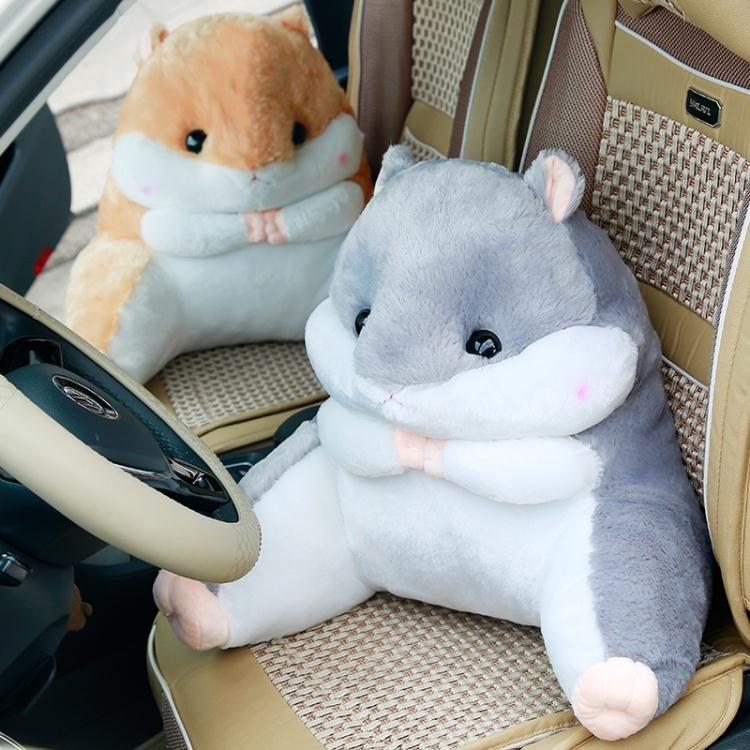 可愛卡通倉鼠抱枕靠墊辦公室腰靠椅子護腰枕家用汽車大號靠背靠枕