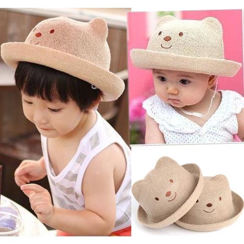 帽子 童小熊盆帽/遮陽帽/草帽/太陽帽