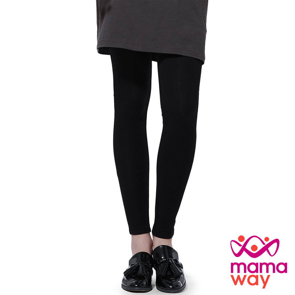 mamaway媽媽餵全長貼腿孕婦褲共2色孕婦褲內搭褲貼腿褲