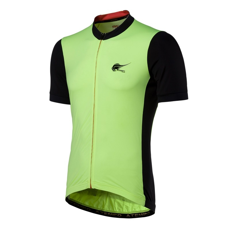 ATEMPO SRR競速系列男款短袖車衣螢光綠黑白色頂級一級公路車騎行服