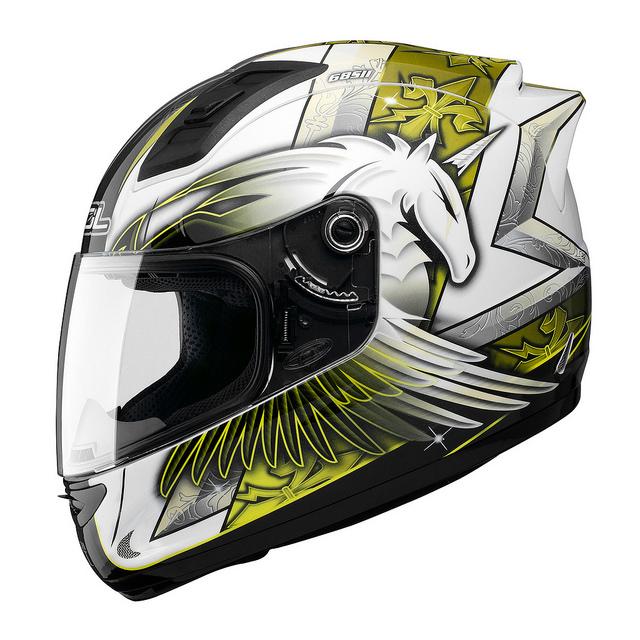 SOL 68Sll獨角獸三代白黃全罩安全帽69S免運費加贈好禮