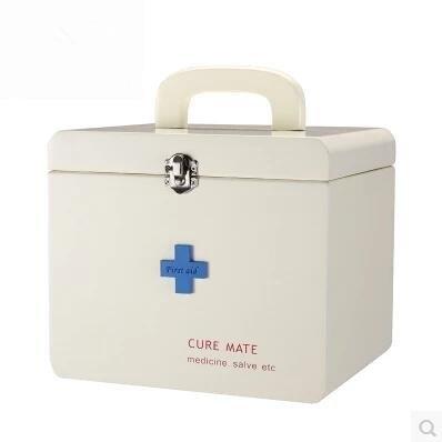 復古木製醫藥箱家用大號急救箱木質藥品收納盒儲物盒