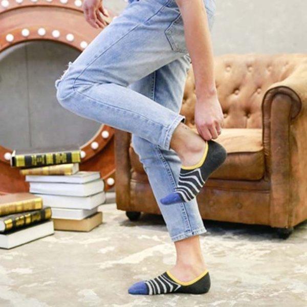 襪子【FSM014】條紋素色男船型短襪 短襪 運動襪 條紋襪 毛巾襪 船型襪 男女襪 學生襪-SORT