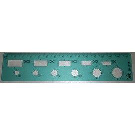 義大文具~LIFE 國小數學尺 (35*160*0.8cm) TP-123A  國小1~3年級適用