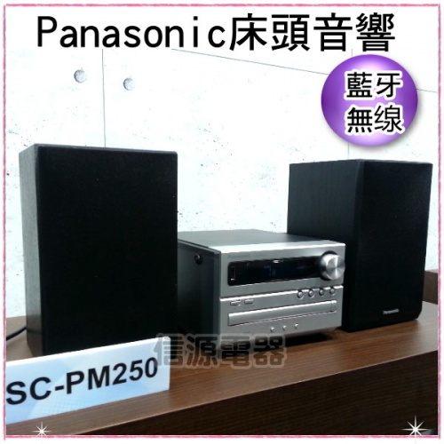 信源全新Panasonic國際牌藍芽無線床頭音響組合SC-PM250 SCPM250線上刷卡免運費