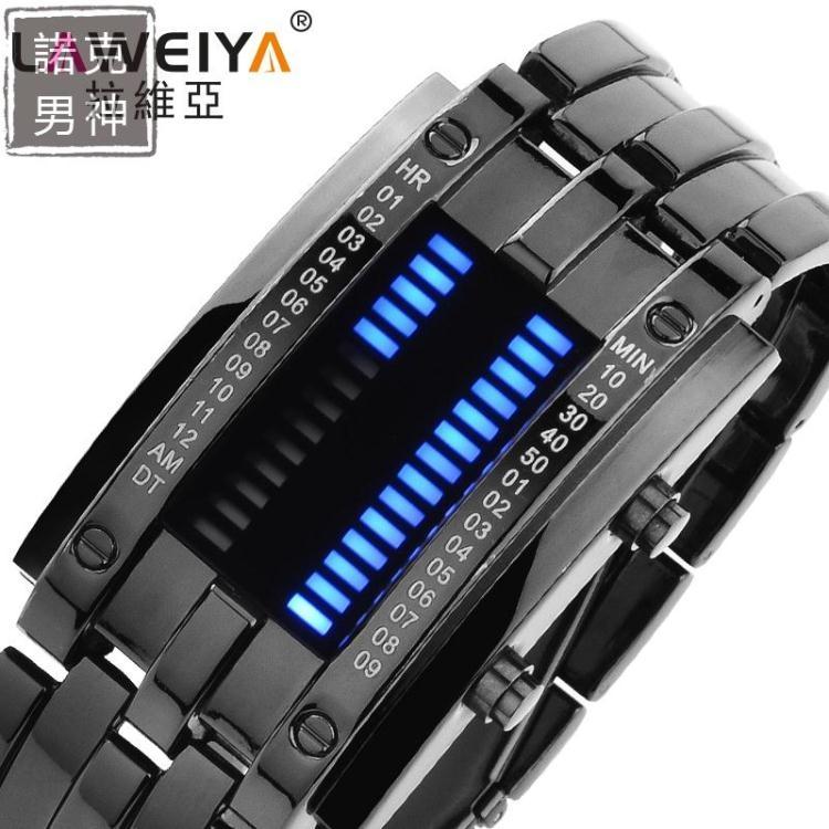 電子手錶手錶男士學生時尚創意LED防水手錶個性情侶錶女電子錶男錶
