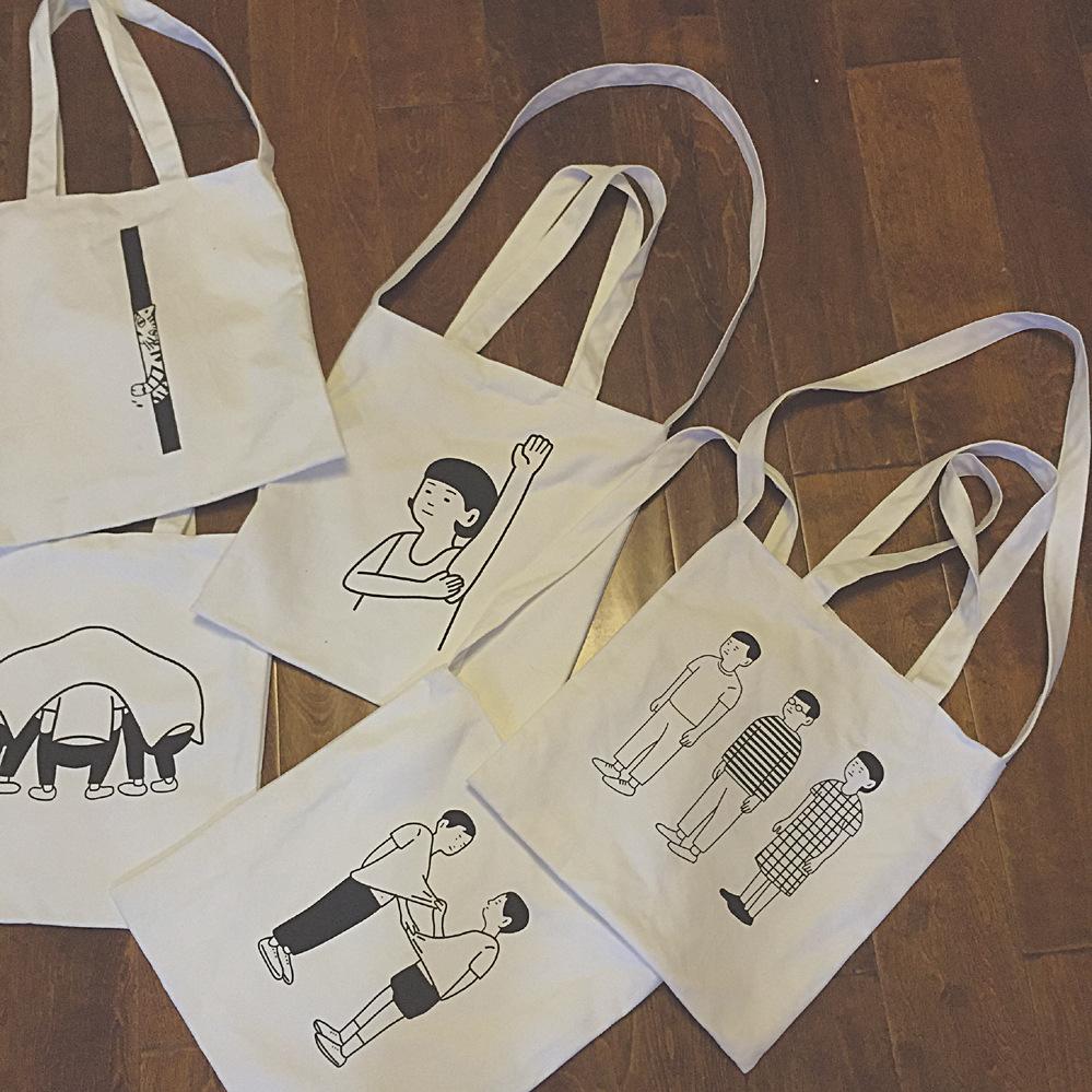 文青12安帆布兩用帆布袋(有拉鍊)環保購物袋-蛋妹的店