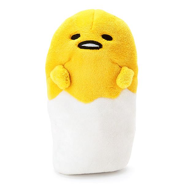 蛋黃哥鉛筆袋立體站式絨布拉鍊筆袋收納包化妝包喜愛屋