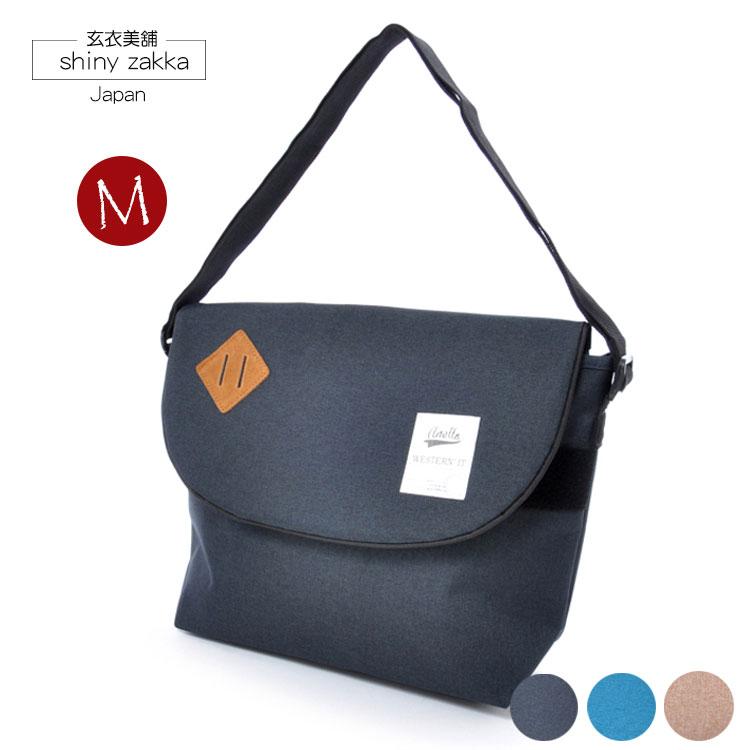 郵差包(M)-日本品牌包anello豬鼻斜背包-深藍色-玄衣美舖