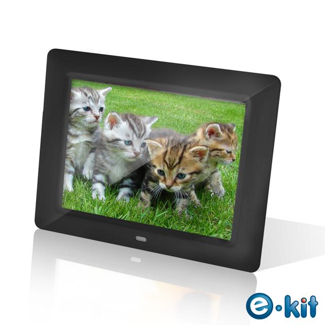 e-kit逸奇8吋高品質亮黑數位相框電子相冊DF-F023-BK黑色款