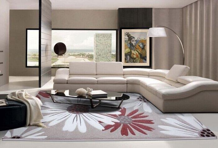 現代客廳地毯沙發茶幾地毯臥室床邊辦公室門口大小地墊