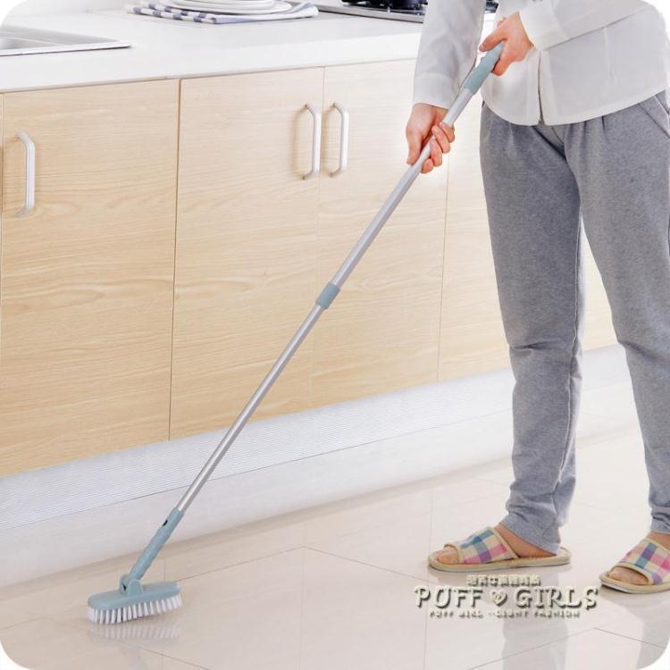 可伸縮長柄刷子浴室硬毛地板刷浴缸刷衛生間