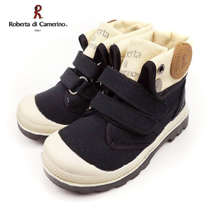 童靴義大利諾貝達Roberta英倫軍靴風中低統兩用靴黑25-34號~EMMA商城