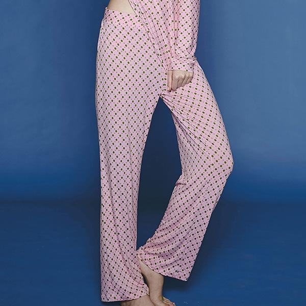 【瑪登瑪朵】家居系列長褲(圓點粉)(本品未購滿4件恕無法出貨,退貨需整筆退)