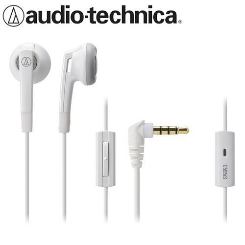 audio-technica 鐵三角 ATH-C505IS 耳塞式耳機麥克風 白