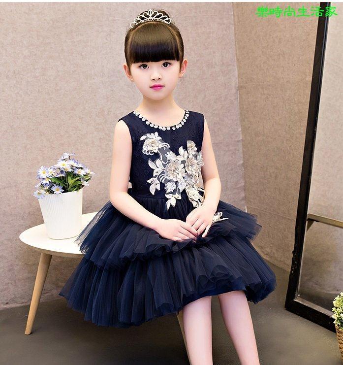 2017兒童禮服公主裙女童婚纱鋼琴表演服蓬蓬裙花童禮服