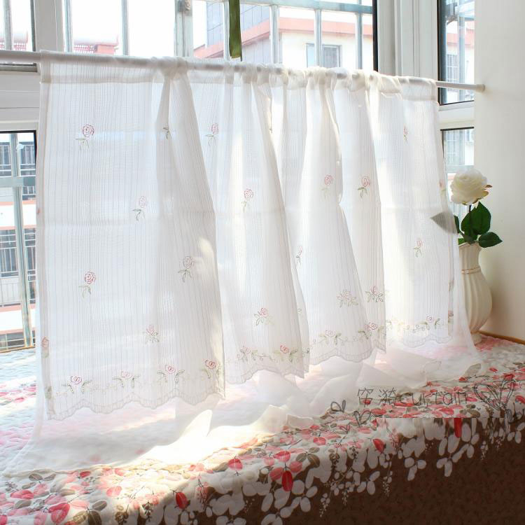 可愛時尚田園門簾170 廚房半簾 咖啡簾 窗幔簾 穿杆簾 (150*45cm) 風水簾