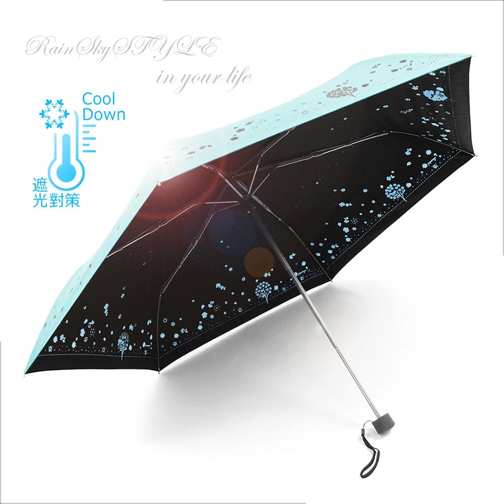 【超輕鈦金】四季花卉雙絲印-抗UV晴雨傘 /傘 UV傘 折疊傘 自動傘 洋傘 陽傘 大傘 抗UV 防風 潑水+3